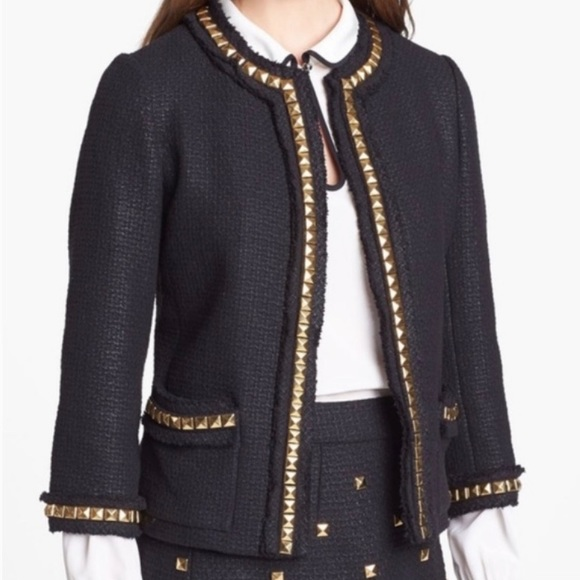 Kate Spade Black Jacket with Gold Studs